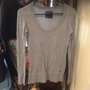 Women's American Eagle light sweater euc grey smal